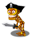 Skeleton Pirate - with Sword