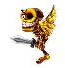 Skeleton Pirate - with Wings